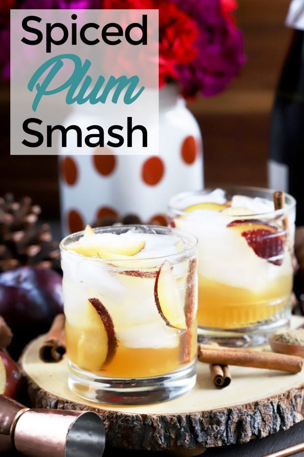 Spiced Plum Smash Cocktail