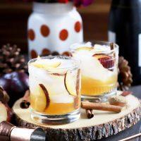 Spiced Plum Smash Cocktail