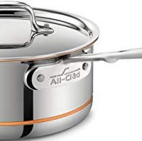 All-Clad SS Copper Core 5-Ply Bonded Dishwasher Safe Saucepan with Lid