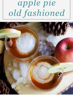 Apple Pie Old Fashioned Cocktail Pinterest Image