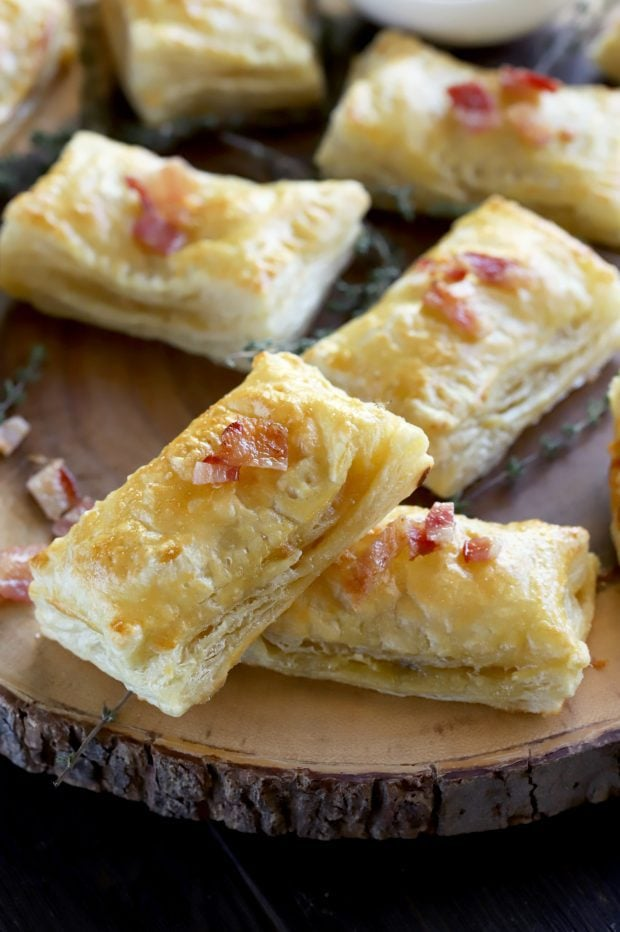 Bite-Sized Baked Bacon Brie Pockets