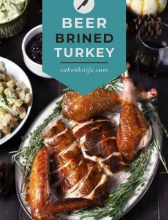 Smoked Beer Brined Turkey Pinterest Image