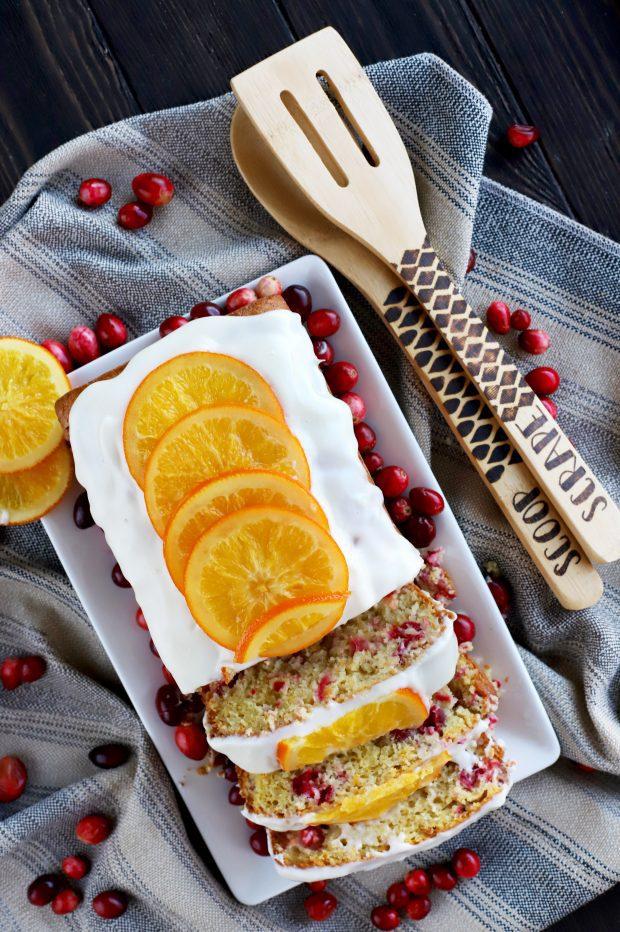 Ginger Cranberry Orange Loaf Cake