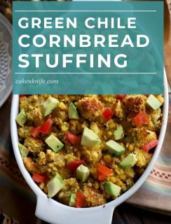 Green Chile Cornbread Stuffing Pinterest Image