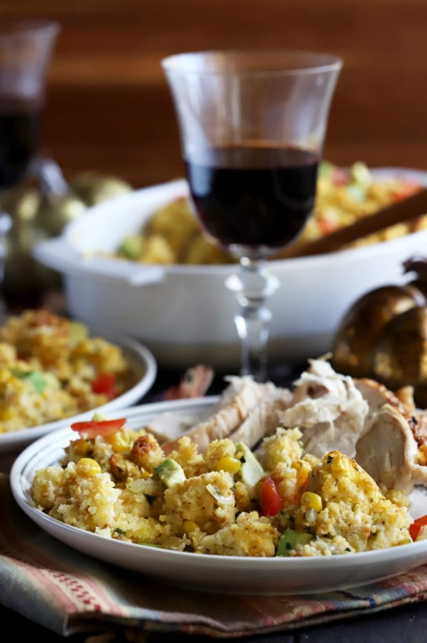 Green Chile Cornbread Stuffing