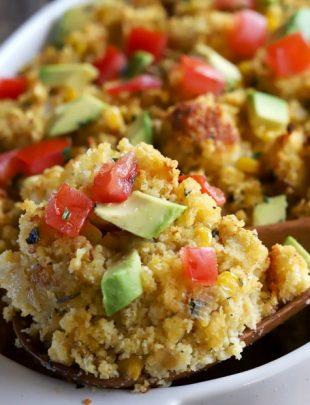 Green Chile Cornbread Stuffing