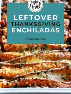 Leftover Thanksgiving Enchiladas Pinterest Image