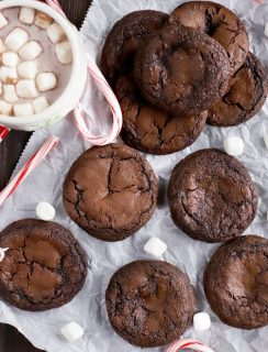 Peppermint Hot Chocolate Cookies