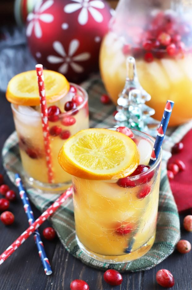 Spiced Tropical Holiday Champagne Punch