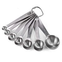 Measuring Spoons: U-Taste 18/8 Stainless Steel Measuring Spoons Set of-7 Piece: 1/8 tsp, 1/4 tsp, 1/2 tsp, 3/4 tsp, 1 tsp, 1/2 tbsp & 1 tbsp Dry and Liquid Ingredients