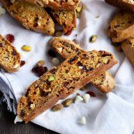 Cranberry Pistachio Avocado Biscotti