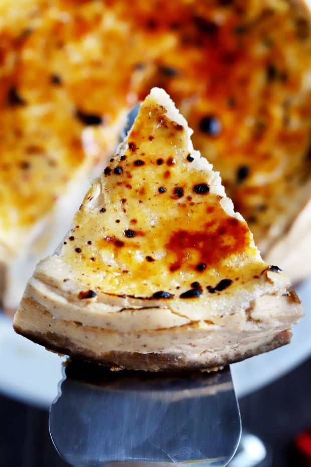 Brûléed Instant Pot Eggnog Cheesecake