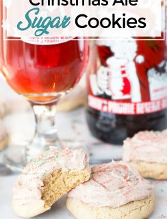 Pinterest Image for Holiday Beer Sugar Cookies