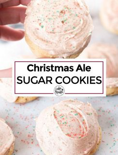 Pinterest Image for Christmas Ale Sugar Cookies