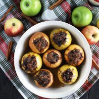 Stuffed Baked Apples With Dates & Granola