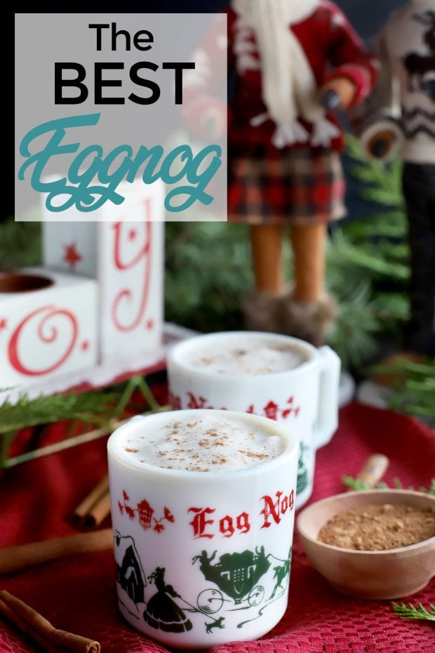 The Best Homemade Eggnog pin image