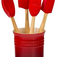 Le Creuset of America Craft Series 5 Piece Utensil Set with Crock