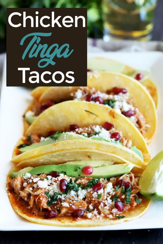 Instant Pot Chicken Tinga Tacos