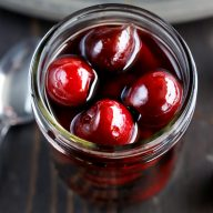 Homemade Brandy Cherries with Rum
