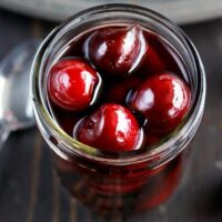 Homemade Brandy Cherries