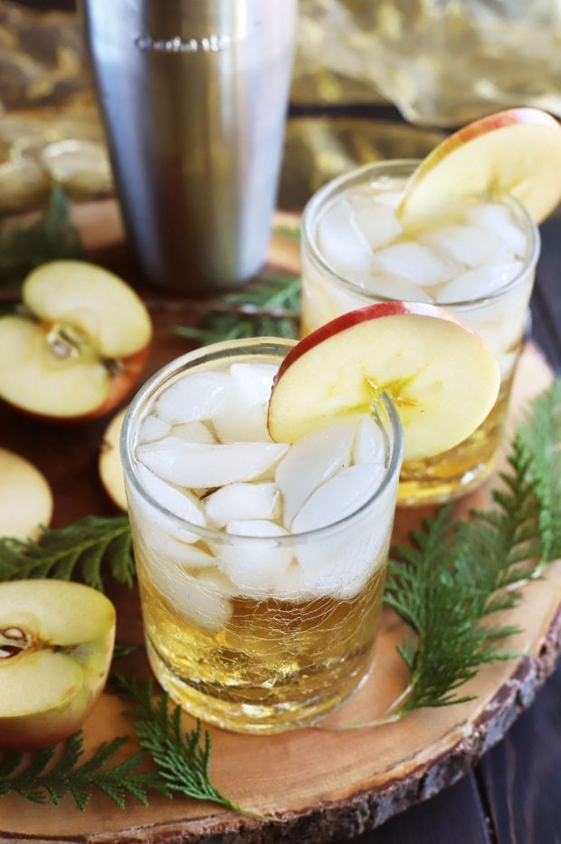 Smoky Mezcal Cider Cocktail