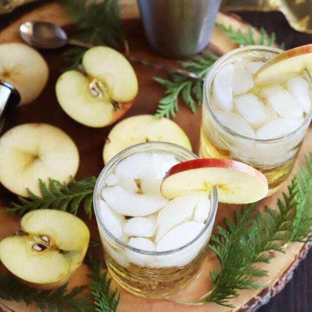 Smoky Mezcal Cider Cocktail