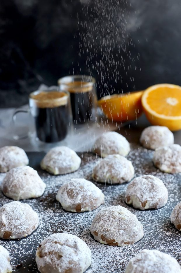 Mocha Orange Mexican Wedding Cookies