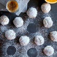 Mocha Orange Mexican Wedding Cookies