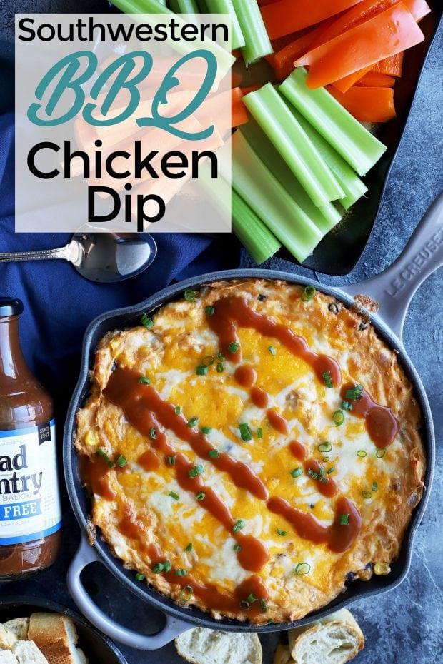 Skillet Southwestern BBQ Chicken Dip