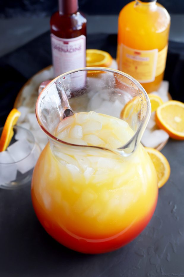 Peach Tequila Sunrise Punch