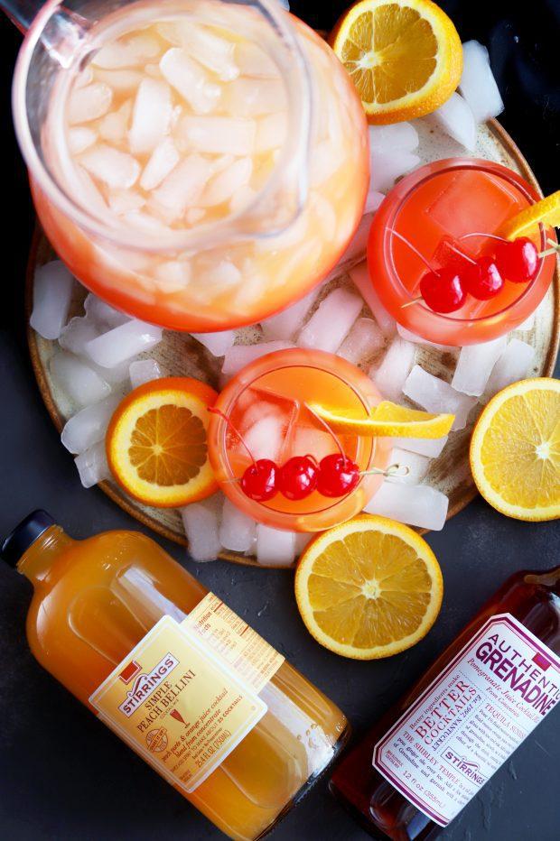 Peach Tequila Sunrise Punch