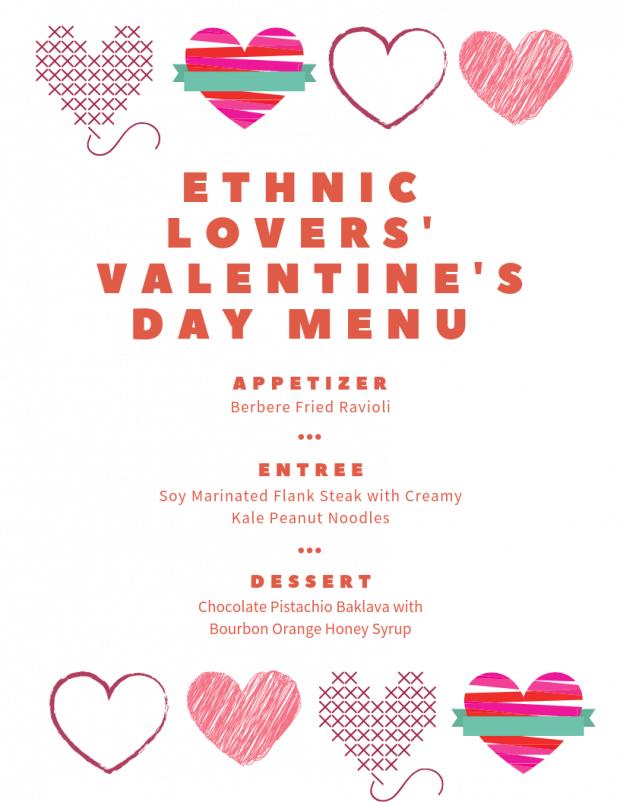 Ethnic Lovers' Valentine's Day Menu - My Favorite Valentine's Day Menu Ideas