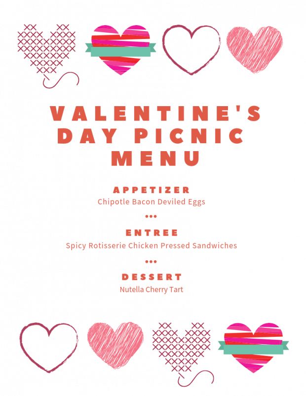 Valentine's Day Picnic Menu - My Favorite Valentine's Day Menu Ideas