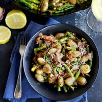 Brown Butter Gnocchi With Asparagus & Peas