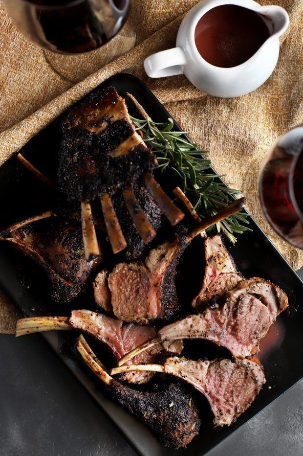 Chipotle Coffee Crusted Rack of Lamb