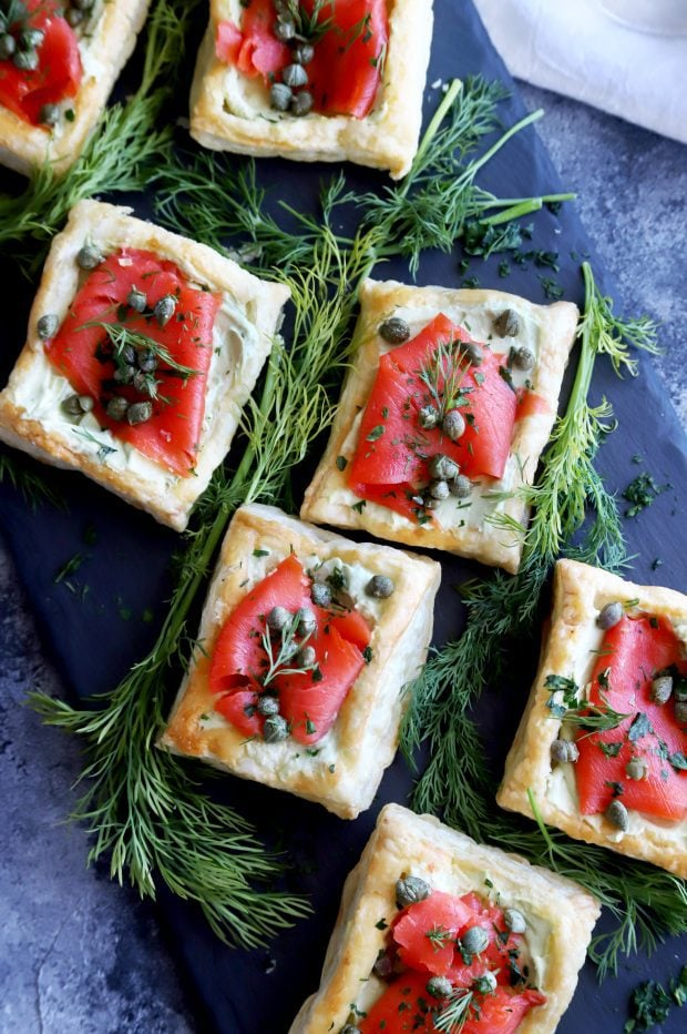 Smoked Salmon Avocado Cream Cheese Pastries