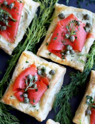 Smoked Salmon Avocado Cream Cheese Pastries