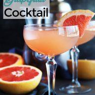 Sparkling Grapefruit Rose Cocktail