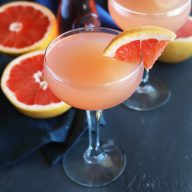 Sparkling Grapefruit Rose Cocktail
