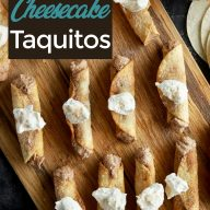Churro Cheesecake Taquitos