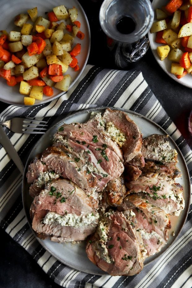Easter dinner leg of lamb