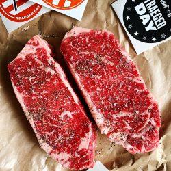 Two big juicy steaks