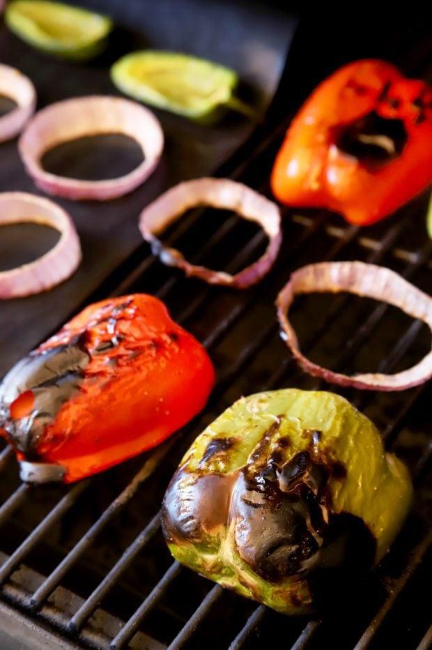 Grilling vegetables in the summertime