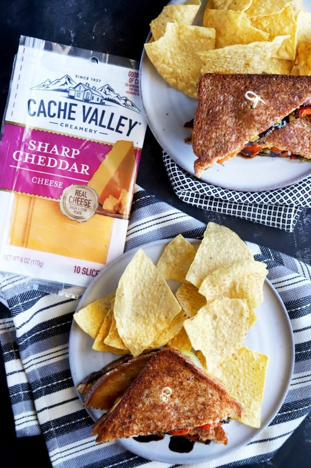 Grilled cheese sandwiches with Cache Valley Cheese for lunch