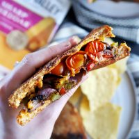 Balsamic Grilled Vegetables Grilled Cheese Sandwich