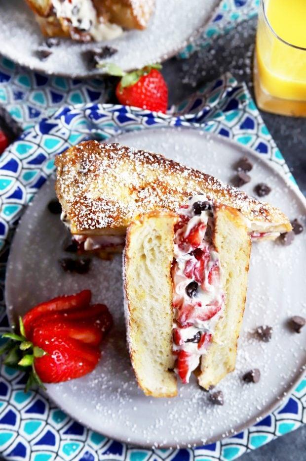 A summer strawberry breakfast idea