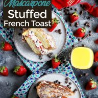 Pin image for chocolate covered strawberry french toast