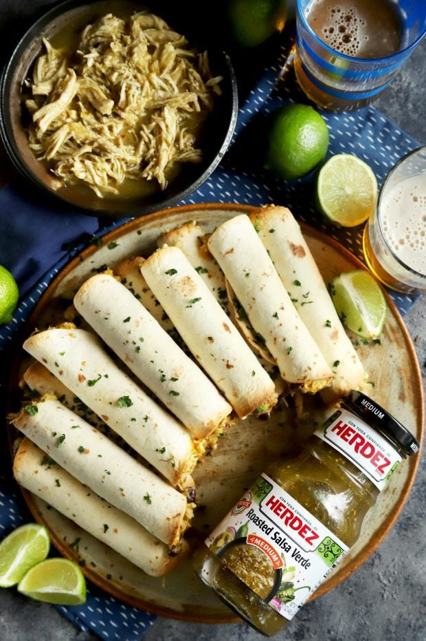 HERDEZ roasted salsa verde with taquitos