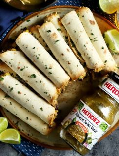 Creamy Salsa Verde Chicken Baked Taquitos thumbnail image
