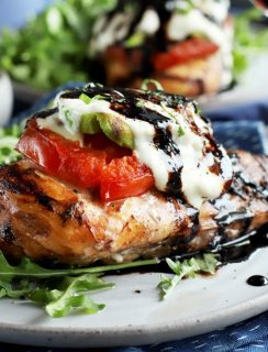 Grilled avocado caprese chicken thumbnail image